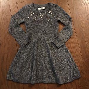 Abercrombie kids sweater dress; size 5/6